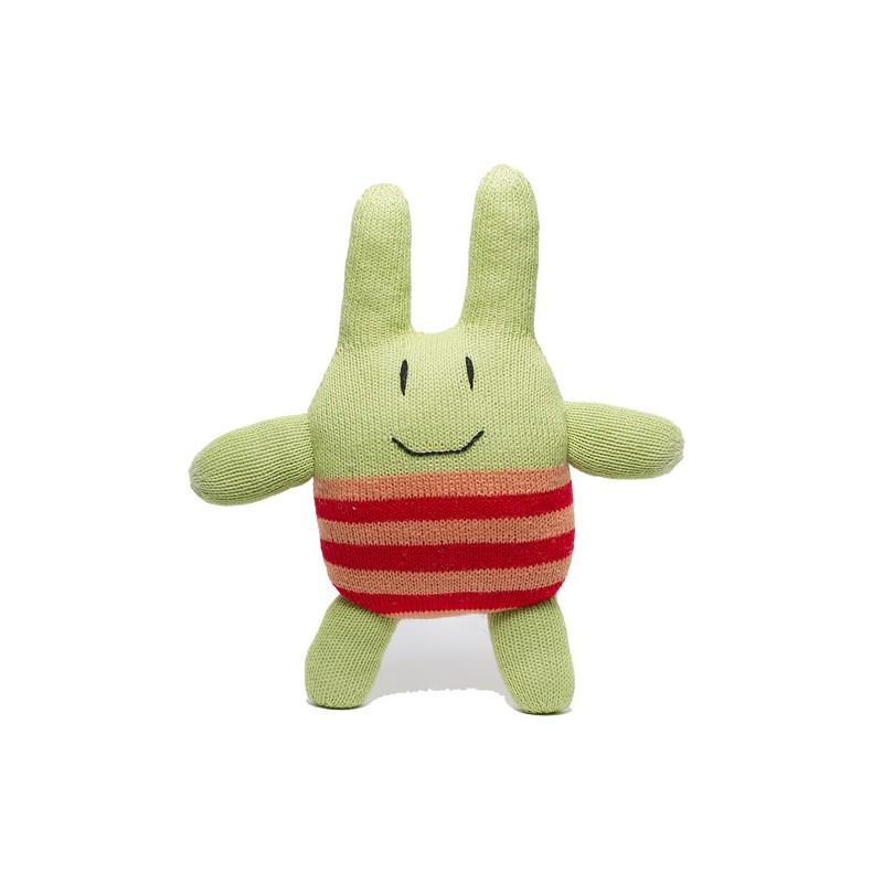 Lapin Pedrito tricoté main en coton Tanguis