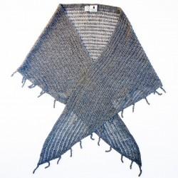 Echarpe LIMA , le baby alpaga version triangle GRIS