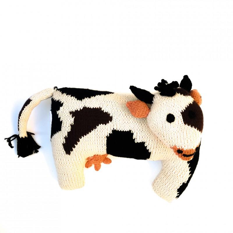 Vache tricotée main en coton Tanguis