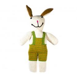 Lapin garçon tricoté main en coton organique
