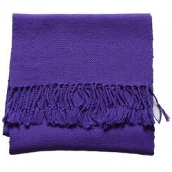 Echarpe artisanale simple fil 100% alpaga VIOLET