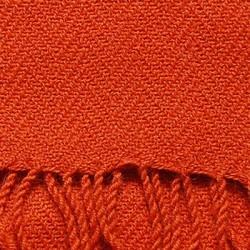Echarpe artisanale simple fil 100% alpaga ORANGE