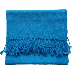 Echarpe artisanale simple fil 100% alpaga TURQUOISE
