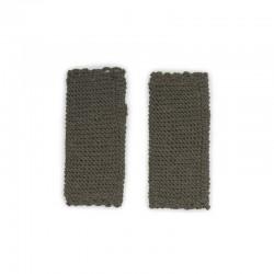 Mitaines tricotées main baby alpaga KAKI